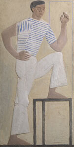 John Craxton, 'Young Man with Cigarette', 1961