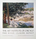The Art Institute of Chicago, The River, Claude Monet, Continuous Tone (No Dots) Lithographic Poster