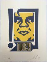 Shepard Fairey (OBEY), 'Giant Mustard & Navy - Letterpress', 2014
