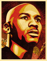 Shepard Fairey (OBEY), 'Michael Jordan Hall of Fame Portrait (Large Format - Dual Signed)', 2009