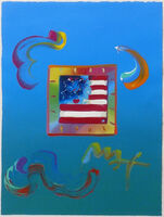 Peter Max, 'FLAG (OVERPAINT)', 2010