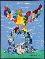 Niki de Saint Phalle, 'Sun Card No. XVIIII', 1998