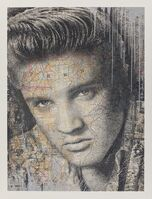 Mr. Brainwash, 'King of Rock (Elvis Presley) (Silver)', 2017