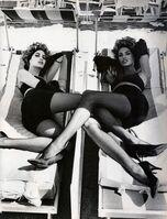 Ellen von Unwerth, 'Christy Turlington, Linda Evangelista, VOGUE Italia,', 1990