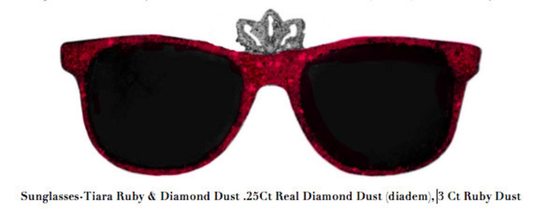 Stacy Engman, 'Sunglasses-Tiara Ruby & Diamond Dust .25Ct Real Diamond Dust (diadem), 3 Ct Ruby Dust', 2019