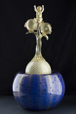 Dale Chihuly Original Signed Putti and the Blowfish One-of-a-Kind Glass Art