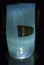 Dale Chihuly  Super Rare 1980 Navajo Blanket Cylinder Signed with Drawing of Dale