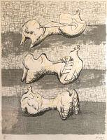 Henry Moore, 'Three Reclining Figures', 1972