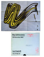 "Roy Lichtenstein, '""Brush Stroke"", 1965, Invitation/ Mailer/Poster, Leo Castelli Gallery NYC', 1965"