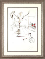 "Salvador Dalí, '""Don Quixote on an Infinite Landscape""    Hand Signed Salvador Dali Lithograph', 1941-1957"