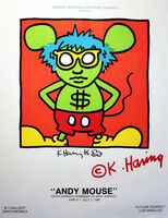Keith Haring, 'Andy Mouse Exhibition Poster', 1986