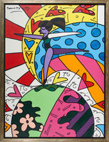 Romero Britto, 'On Top of the World', 2003