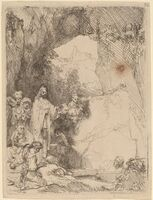 Rembrandt van Rijn, 'The Raising of Lazarus: Small Plate', 1642