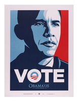 Shepard Fairey, 'VOTE (Obama)', 2008