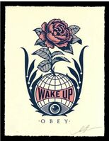 Shepard Fairey (OBEY), 'Obey Giant Wake Up Earth Letterpress Signed Numbered Shepard Fairey ', 2020