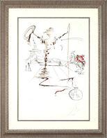 "Salvador Dalí, '""Don Quixote on an Infinite Landscape""Hand Signed Salvador Dali Lithograph', 1941-1957"