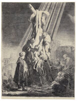 Rembrandt van Rijn, 'The Descent from the Cross: Second Plate (B., Holl. 81; H. 103; New Holl. 119)', 1633