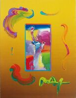 Peter Max, 'STATUE OF LIBERTY (OVERPAINT)', 2010