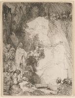 Rembrandt van Rijn, 'The Raising of Lazarus. Small Plate', 1642