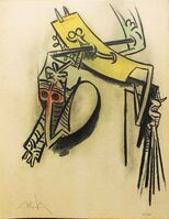 "Wifredo Lam, 'Montee des Sèves - from the suite ""Pleni Luna""', 1974"