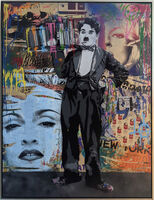 Mr. Brainwash, 'Spray Tray- Charlie Chaplin', 2014