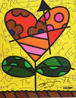 Romero Britto, 'Heart Flower', 2019