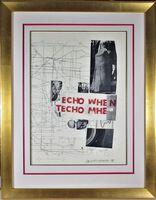 "Robert Rauschenberg, 'Echo When""', 1978"
