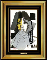 Andy Warhol, 'Andy Warhol RARE Original Hand Signed Lithograph Rolling Stones Mick Jagger Art', 1975