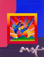 Peter Max, 'Cosmic Flyer With Sun On Blends', 2008