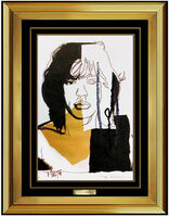 Andy Warhol, 'Andy Warhol Original Color Lithograph Hand Signed Mick Jagger Portrait Pop Art', 1975