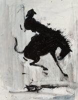 Richard Hambleton, 'Horse and Rider (Grey Wash)', 2003