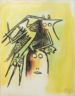Wifredo Lam, 'Elle, casqué, from Pleni Luna', 1974