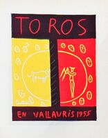 Pablo Picasso, 'Toros En Vallauris Yellow/Red', 1959
