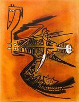 """Wifredo Lam, 'Soeur de la Gazelle - from the suite """"Pleni Luna""""', 1974"""