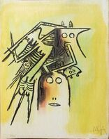 Wifredo Lam, 'Elle, casqué - from the suite Pleni Luna', 1974