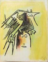 Wifredo Lam, 'Elle, casqué - from the suite Pleni Luna', 1974