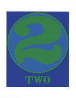 Robert Indiana, 'Number Two Green and Blue', 1997