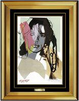 Andy Warhol, 'Andy Warhol Original Hand Signed Lithograph Mick Jagger Portrait Modern Artwork', 1975