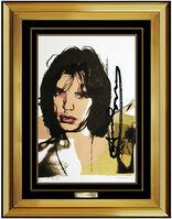 Andy Warhol, 'Andy Warhol Original Lithograph Hand Signed Mick Jagger Portrait Screenprint Art', 1975