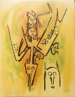"Wifredo Lam, 'Laissez-moi l'enjamber - from the suite ""Pleni Luna""', 1974"