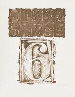 """Jasper Johns, '6 from the portfolio """"0-9""""', 1963"""
