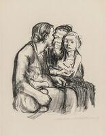 Käthe Kollwitz, 'Zwei schwatzende Frauen mit zwei Kindern', 1930