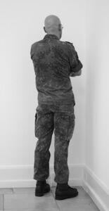 Santiago Sierra, 'Veterans of the War of Cambodia, Rwanda, Bosnia, Kosovo, Irak and Afghanistan Facing the Corner. ', 2012
