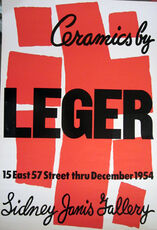 Ceramics by Leger, Sidney Janis Gallery Original Poster, HOLIDAY SALE TAKE 20% OFF NEXT THREE WEEKS