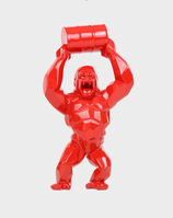 Richard Orlinski, 'Red Wild Kong Barrel', 2019