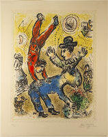 Marc Chagall, 'The Red Acrobat', 1974