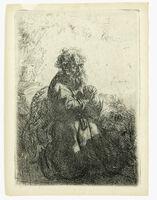 Rembrandt van Rijn, 'St. Jerome Kneeling in Prayer', 1835