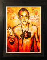 Shepard Fairey, ''Keith Haring Canvas' (framed)', 2010