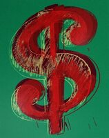 Andy Warhol, 'Dollar Sign, Green (Sunday B. Morning)', 2013