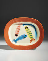 Pablo Picasso, 'Quatre poissons polychrome (Four polychrome fish)', 1947